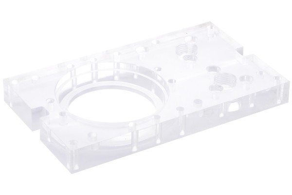 Alphacool Repack - Single Laing D5 - Dual 5,25 Bay Station - Backpanel