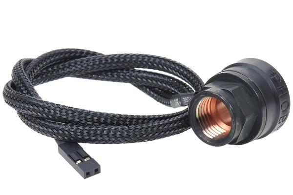 Phobya Thermosensor In-Line 2x G1/4 Innengewinde - black matt