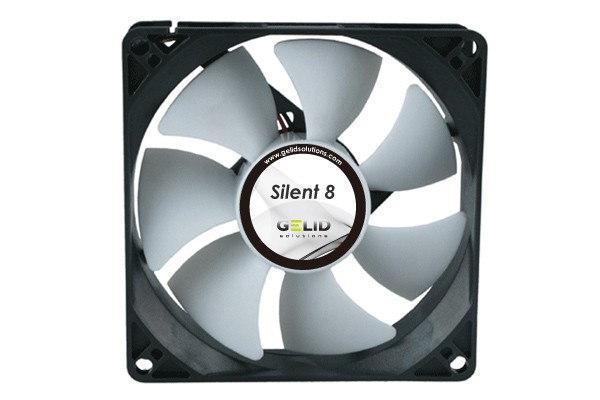 GELID Low Noise fan-1600 RPM 18 dBA (80x80x25mm)