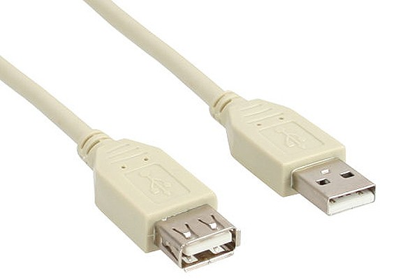 USB 2.0 Extension d'Alimentation, Type A, M/F - Beige 1.8m