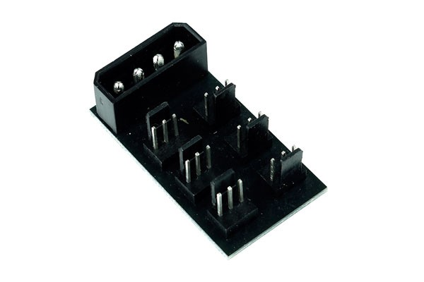 Phobya Répartiteur Molex 4 broches vers 6x 3 Broches